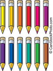 lápices coloridos