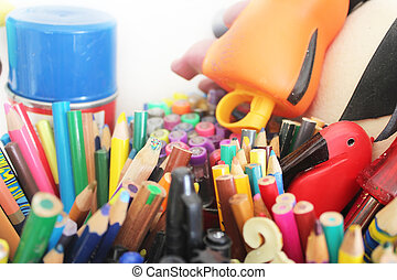 Lápices de diferentes colores
