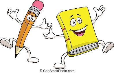 Lápices y dibujos animados