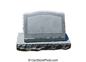 lápida, blanco