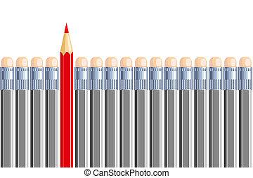 lápiz, gray., different., ser, algunos, uno, otro, otro
