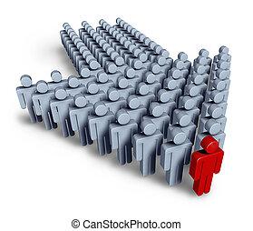 Líder con equipo de negocios