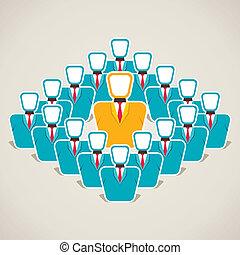Líder discutir su concepto de equipo