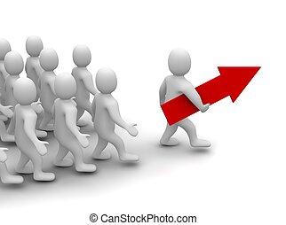 Líder en camino al éxito