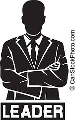 Líder (hombre de negocios exitoso)
