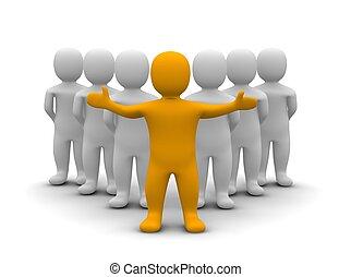 Líder y su equipo