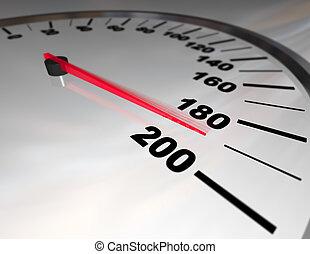 límite, exceso de velocidad