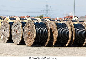 línea, cable, potencia