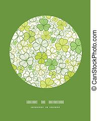 Línea de Clover, círculos de arte decorativos