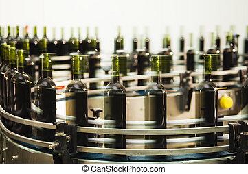 Línea de empaste de botella