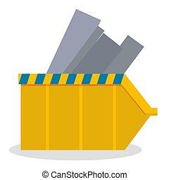 línea, materiales, sitio, construcción, metal, gris, industrial, industria, contenedor, advertencia