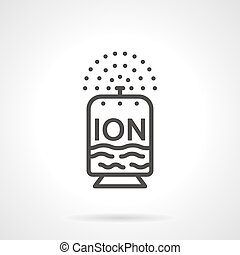 Línea plana de diseño ionizador vector icono