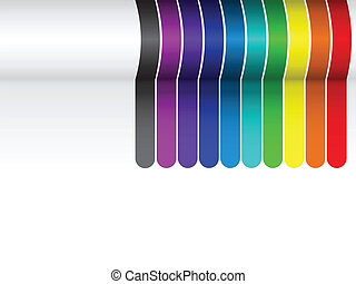 Líneas coloridas de fondo en blanco