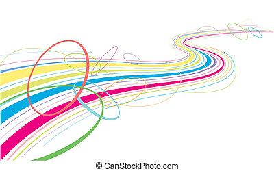 líneas, colorido, fluir