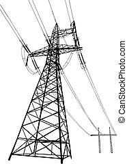 Líneas de energía y pilones
