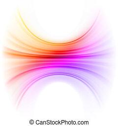 Líneas de luz ligeras y suaves. EPS 8