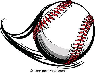 líneas, ilustración, movimiento, vector, beisball, sofbol, o, movimiento