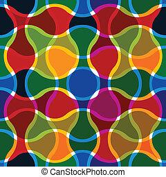 Líneas onduladas coloridas sin marcas.