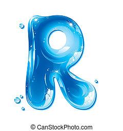 líquido, -, agua, r, carta, capital