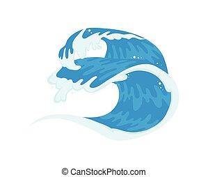 líquido, océano de ola