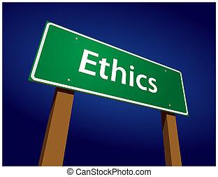 La ética de la carretera verde indica ilustración