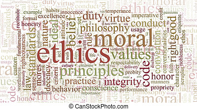 La ética y los principios de la palabra nube