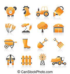 La agricultura y los iconos agrícolas