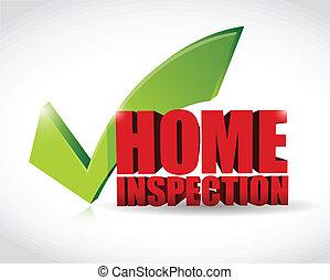 La aprobación de la inspección en casa indica ilustración