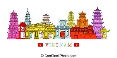 La arquitectura de Vietnam marca el horizonte