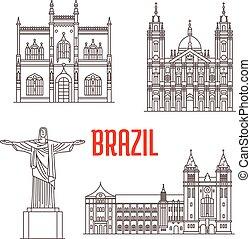 La arquitectura viaja puntos de referencia de Brasil