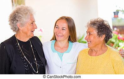 La atención de ancianos