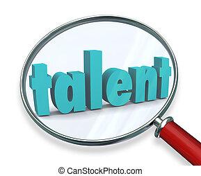 La búsqueda de talentos en busca de personas especiales especiales