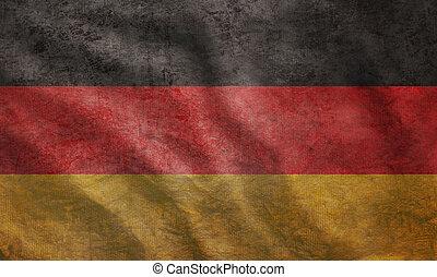 La bandera alemana grunge