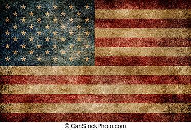 La bandera americana.