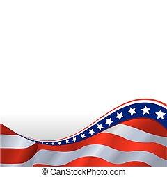 La bandera americana es horizontal