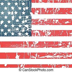 La bandera americana texturada