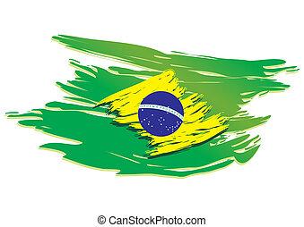 La bandera de Brasil estilizada