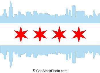 La bandera de Chicago