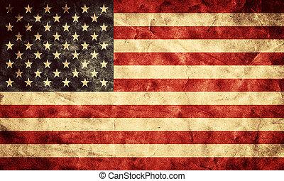 La bandera de EE.UU. grunge. Un objeto de mi colección de banderas retro