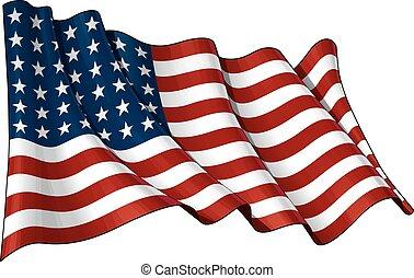 La bandera de EEUU WWI-WII (48 estrellas)