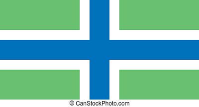 La bandera de Gloucestershire