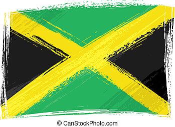 La bandera de Grunge jamaica