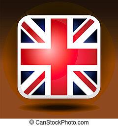 La bandera de Inglaterra es al estilo icono