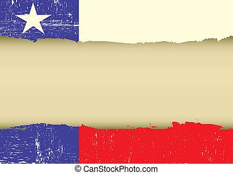 La bandera de la estrella solitaria rayaba la bandera