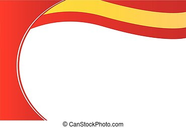 La bandera de la frontera de España