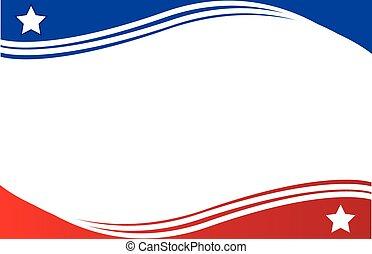 La bandera de la frontera de Panamá