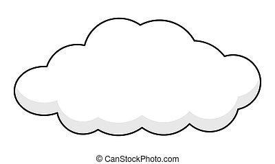 La bandera de la Nube Retro