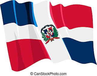 La bandera de la república dominica