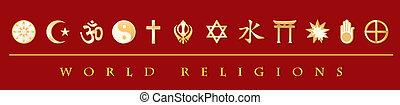 La bandera de las religiones mundiales