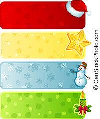 La bandera de Navidad